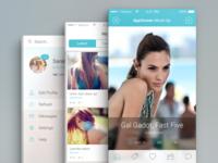 App Screen PSD Mock-Ups