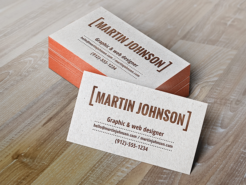 Business Card Letterpress Gallery - Business Card Template