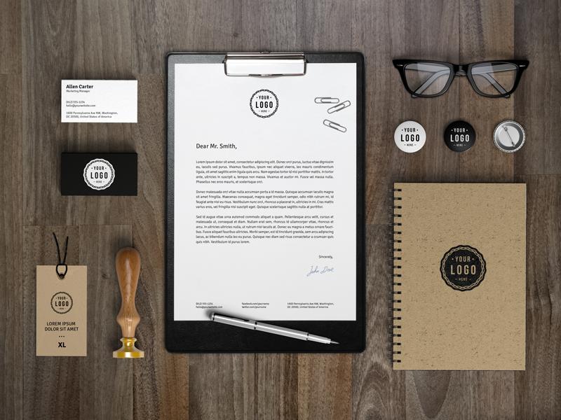 branding identity mockup template by raul taciu dribbble