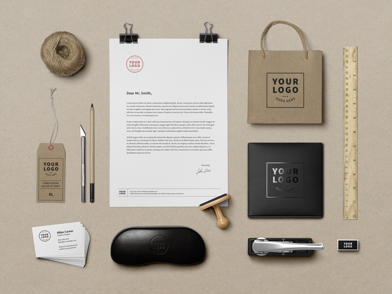 Another Branding Mock-Up(Free PSD) psd mockup freebie branding identity free logo stationery template