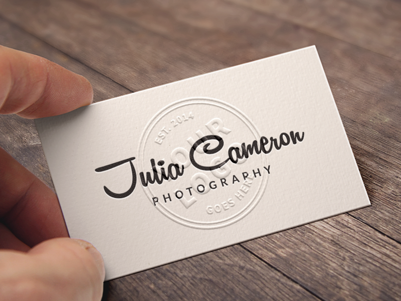 Embossed Business Card Mockup by Raul Taciu - Dribbble