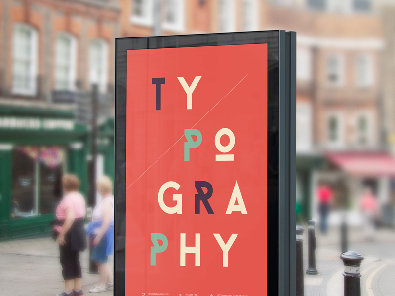 Street Billboard PSD Mock-up billboard poster psd freebie mock-up mockup free