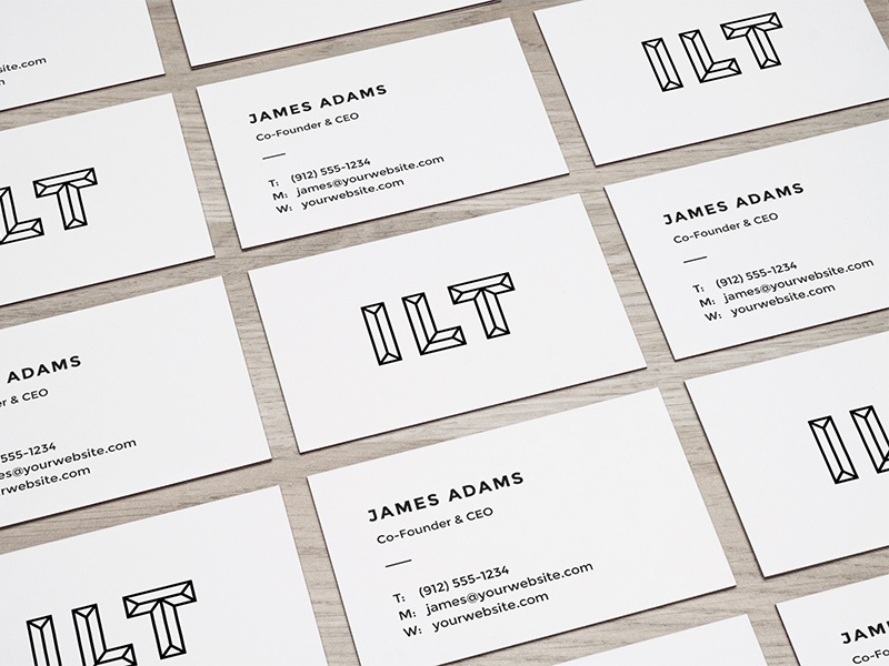 Perspective business cards mockup by raul taciu dribbble colourmoves