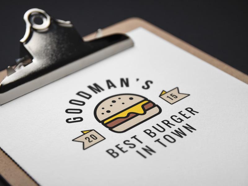 Burger Logo Mockup logo mock-up clipboard paper icon burger psd photoshop