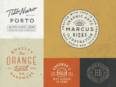 Badge / Label Templates #6 logo mark monogram badge label template vector psd vintage retro texture