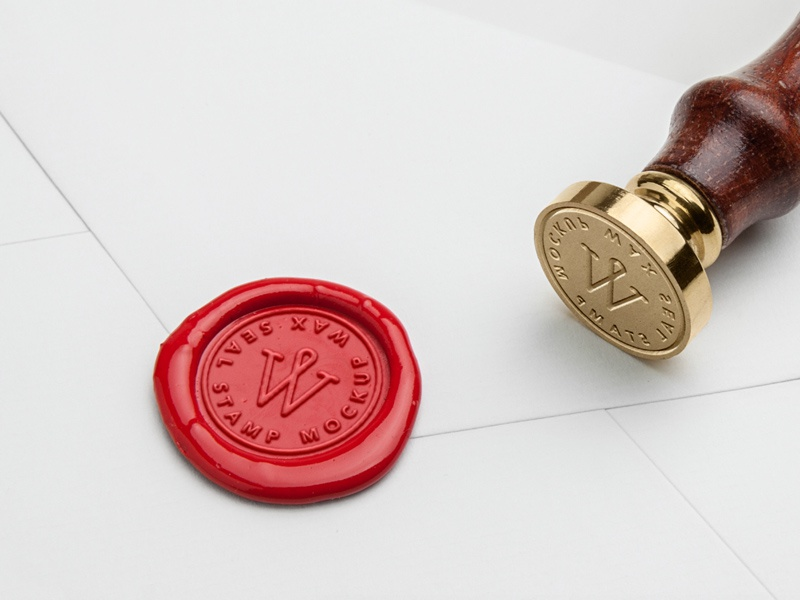 wax seal stamp mock