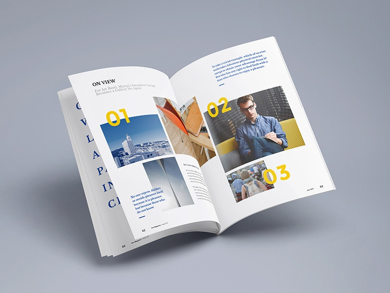 Photorealistic magazine mockup 3 dribbble
