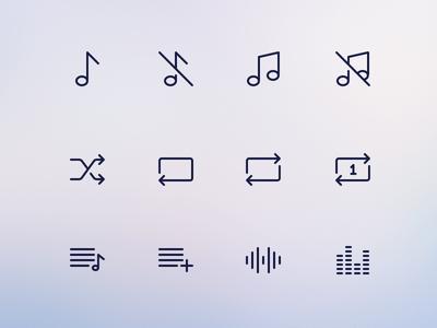 Simple Line Icons Pro - Audio ui icons minimal android icons ios icons icon pack stroke icons icon set outlined icons line icons icons icon