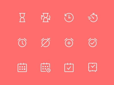 Simple Line Icons Pro - Time ui icons minimal android icons ios icons icon pack stroke icons icon set outlined icons line icons icons icon