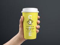 Hand Held Coffee Cup Mockup