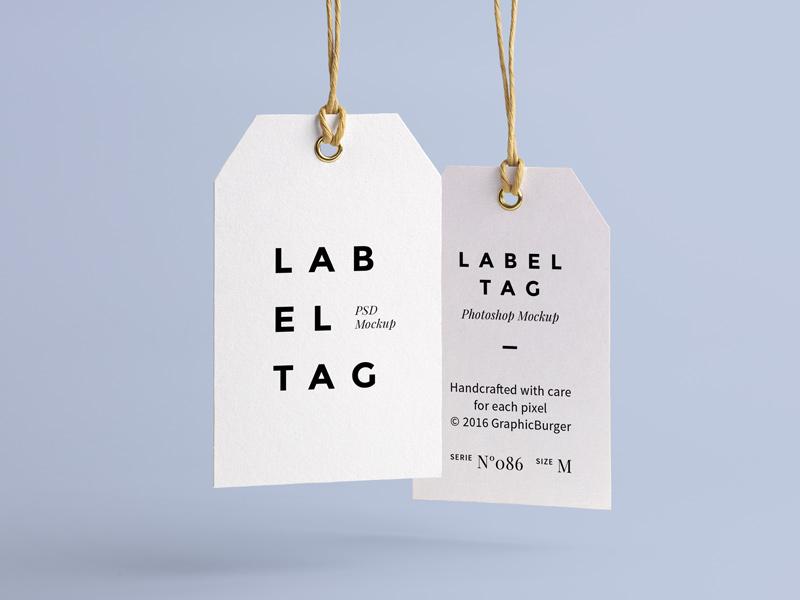 Label Tag PSD MockUp mockup mock-up free freebie psd branding tag label