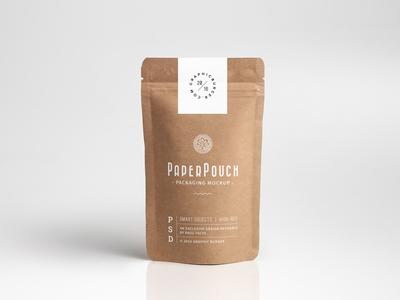 Paper Pouch Packaging MockUp label mockup freebie psd mock-up packaging