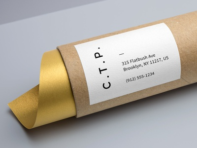 Cardboard Tube Packaging Mock gold mockup freebie psd mock-up kraft branding stationery packaging tube