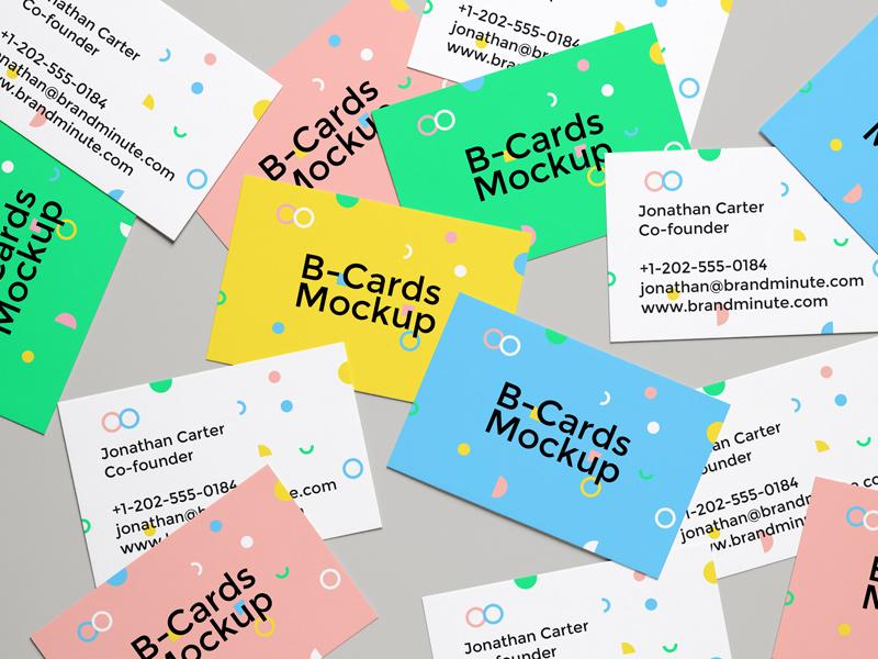 B-Cards Mockup #4 free psd freebie mock-up business card