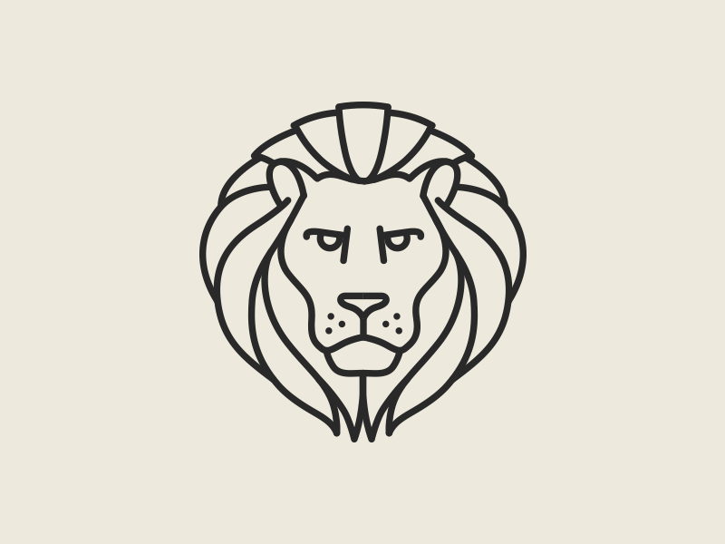 Line Drawing Lion Head : Lion pictogram by raul taciu dribbble