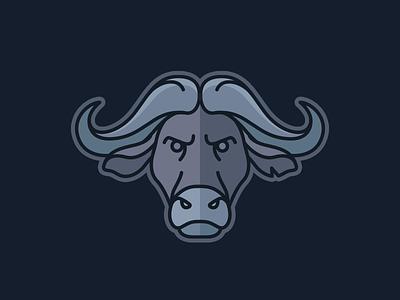 Buffalo Mark illustration badge animal pictogram mark logo buffalo