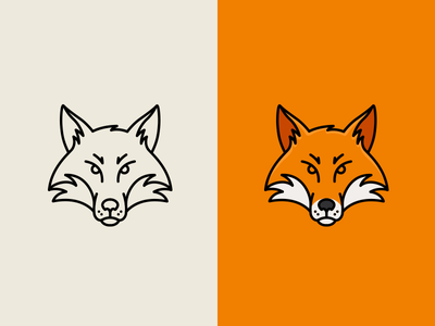 Fox symbol animal pictogram mark logo fox