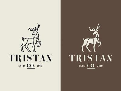 Animal Logo Templates - Deer pictogram animal mark template logo deer