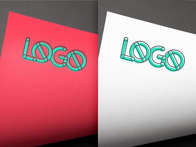 Logo Mock paper color template psd mock-up logo