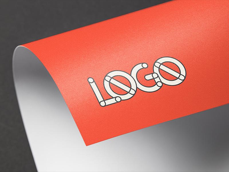 Full color logo mockup dribbble