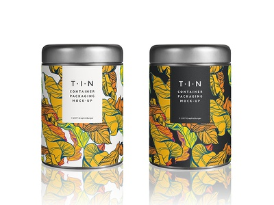 Tin Container Packaging Mockup can label freebie free mockup psd mock-up packaging