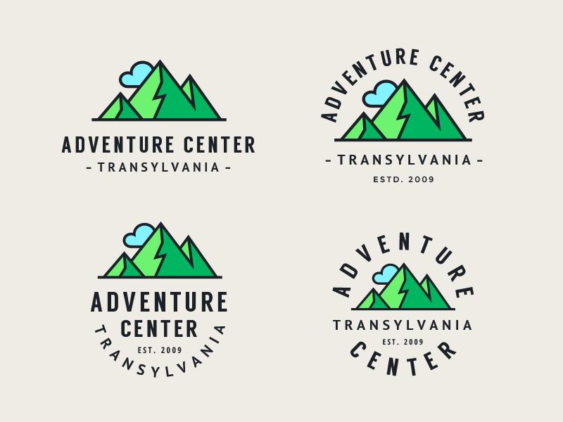 Adventure Center Transylvania hiking mountains adventure outdoor mark badge logo