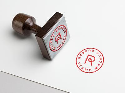 Rubber Stamp Mockup identity mark ink branding badge logo stamp