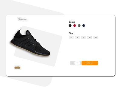 Mockup for Shoe Website