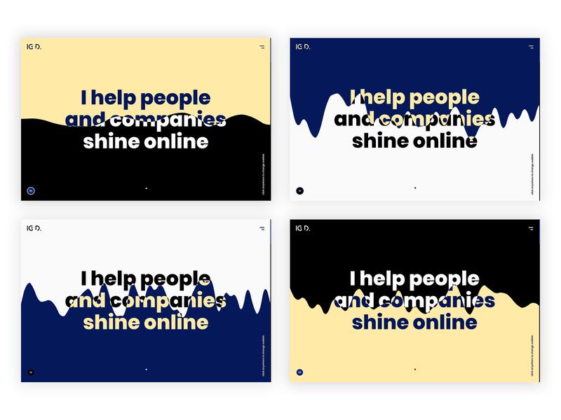 Personal website - Hero section website development services service designer portfolio ux personal portfolio personal landing page homepage developer designer ui responsive design design animated
