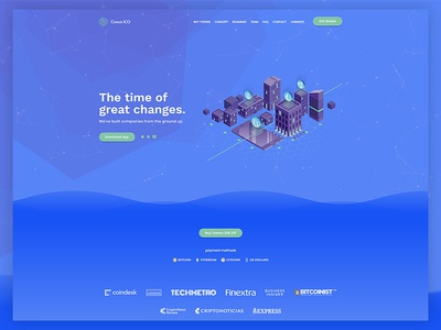 Cryptocurrency Landing Page bootstrap animated responsive design css3 html5 parallax live landing page technology cryptocurrency blockchain bitcoin