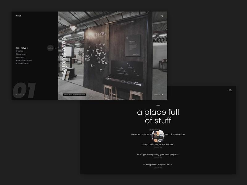 Alke - Minimal Portfolio Template page transition gallery responsive portfolio bootstrap parallax html5 css3 retina animated creative
