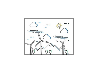 Windy Day transition wind animation html css creative design