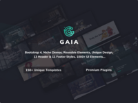 Gaia | A High Performance Creative Template retina ready animated creative design blog portfolio template parallax css html responsive bootstrap 4