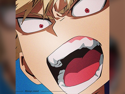 Bakugou mayo red blonde hot angry fire anime bakugou myheroacademia my hero academia art illustration cartoon branding design nigeria photoshop mayomeed mayomide aina-badejo