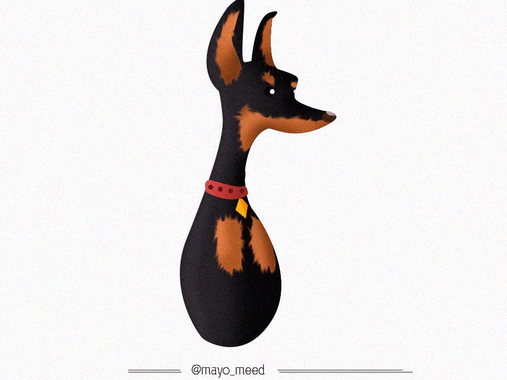 Doberman dog art drawing girl character photograhy cartoon brand doberman doggo dog design logo vector art branding illustration nigeria mayomide photoshop mayomeed aina-badejo
