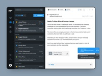 Mail Desktop App darkui collaboration communication chat software encrypt secure mail mail app desktop application macosapp macos desktop app app interface interaction design user interface user experience ux ui