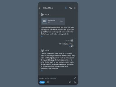 Voice Record Interaction principle privacy security interactiondesign darkmode darkui mobile design andorid ios chat app voice record voice call interaction animation interface interaction design user interface user experience ux ui