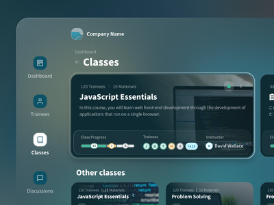 Class Details exploration figmadesign darkmode darkui elearning details classes figma dashboard app interface interaction design user interface user experience ux ui