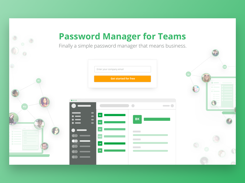 Hero Area web app hero area teams manager password website signup signin