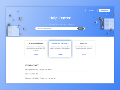 Help Center Exploration