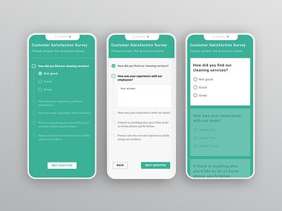 Surveys questionnaire customer feedback survey mobile ui ux