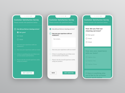 Surveys questionnaire customer feedback survey mobile ui ux