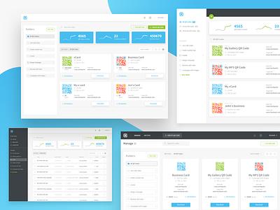 Manage QR Codes - Dashboard exploration ux ui stats redesign qrcodes qr manage grid folders design dashboard