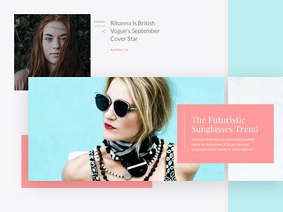 Blog Section user experience user inteface fashion blog blog layout blog design ui ux