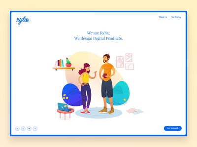 Rylix Homepage landingpage agency homepage illustration sketch user interface ux user experience ui