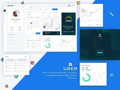 Uber customer Dashboard customer uber map design search management landing page color clean minimal dashboard ui dashboard