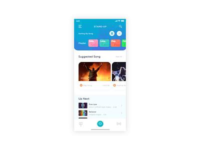 Animated Musical App mobile ui app music app motion design mobile app ios app ux ui animation