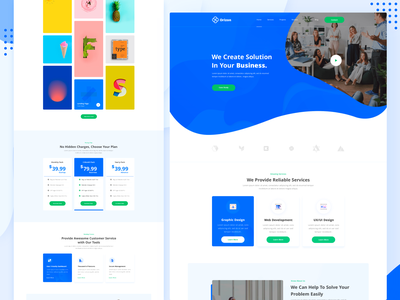 SaaS Landing Page HTML Template ux-ui agency minimal 2019 trend design color landing page clean ux ui