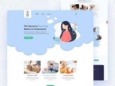 Website for Baby Care and Parenting Hacks dribbble best shot branding ux-ui design landing page color ux clean ui minimal