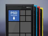 Freebie PSD: Nokia Lumia 920